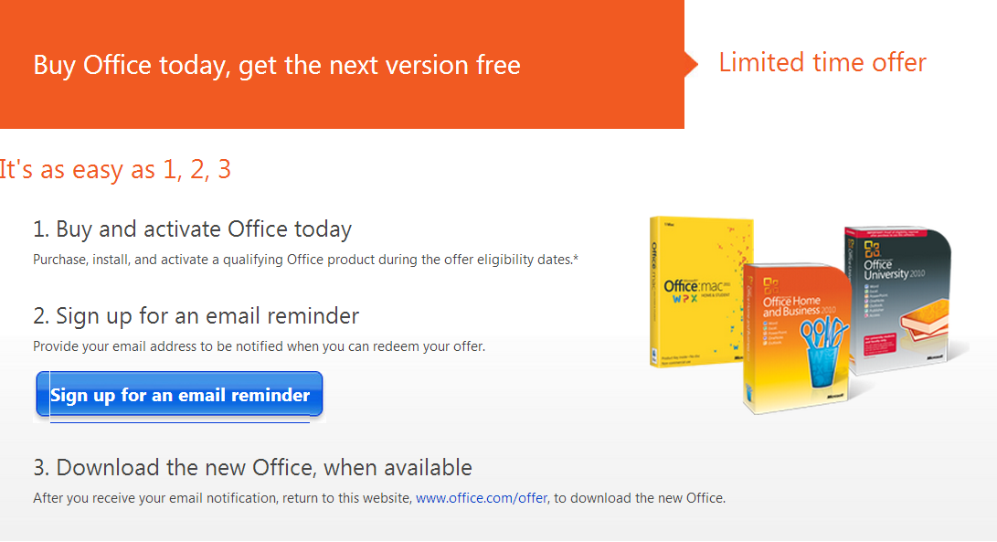 Office 2013 free upgrade