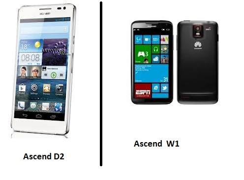 Huawei Ascend D2 and Ascend W1