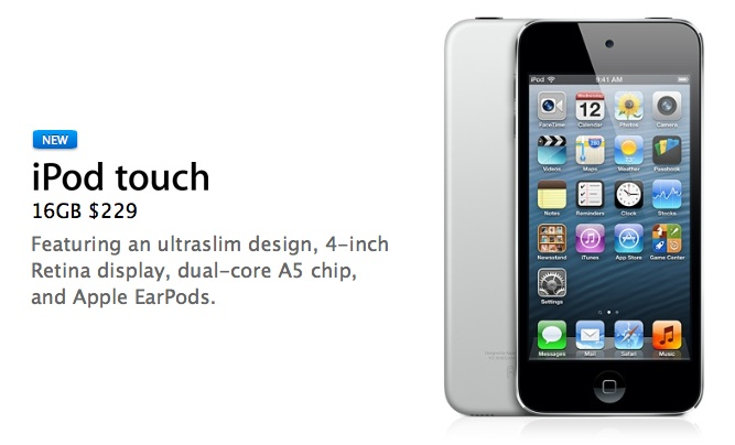 Apple Launches New Cheaper 16 GB iPod Touch at $229